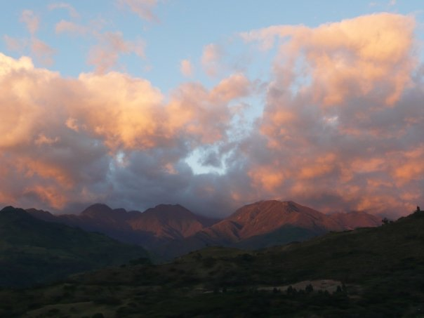 best mountain towns of Ecuador, sunset