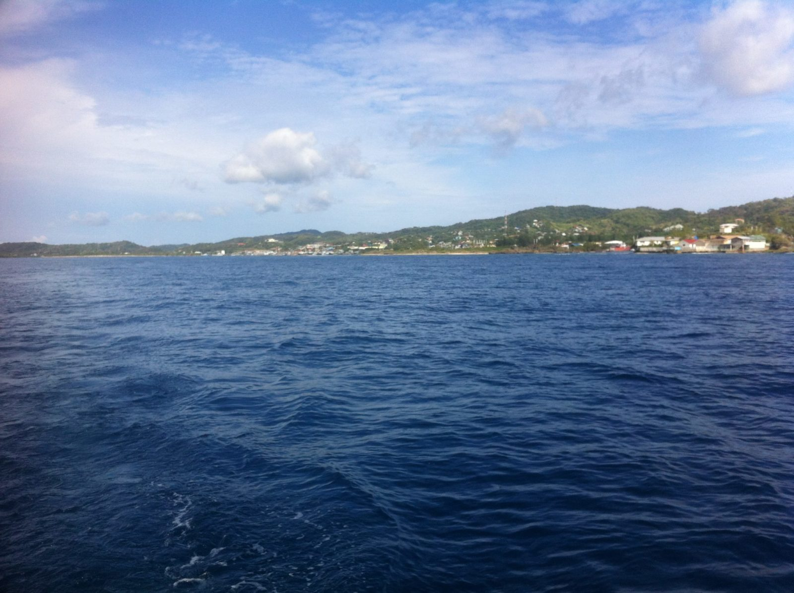 Southwestern side of Roatan