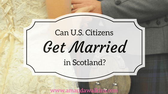 Information from a US Citizen married in Scotland