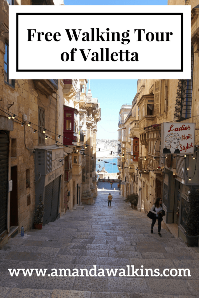 Valletta free walking tours are offered by Colour My Travel