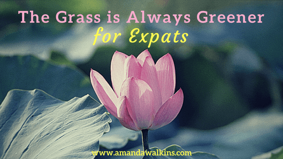 The grass is always greener on the other side...especially for expats.