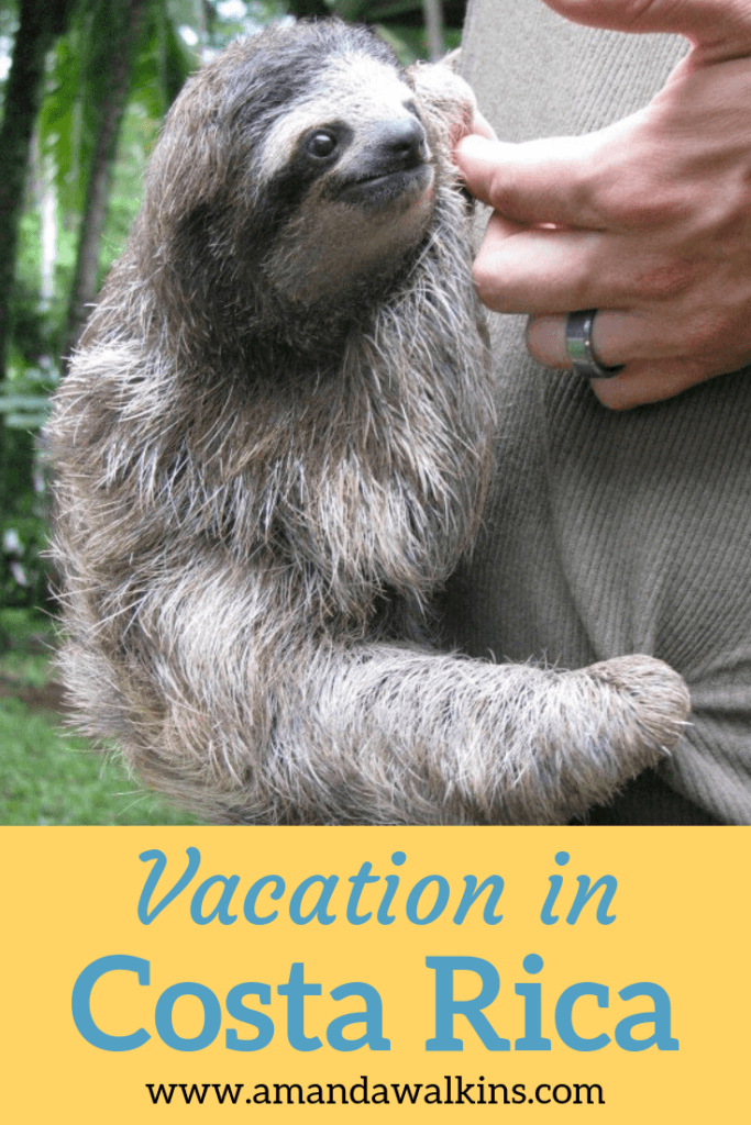 Take a trip coast to coast in Costa Rica with travel blogger Amanda Walkins - #sloth photos included!