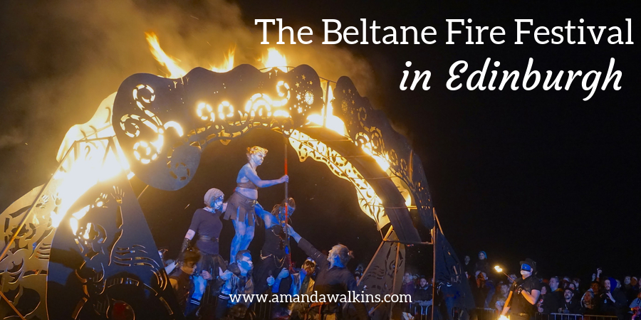 Beltane Fire Festival performers in Edinburgh